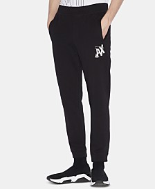 Armani Exchange Men's Logo Graphic Fleece Joggers