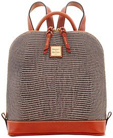 Lizard Embossed Leather Pod Backpack, Created for Macys