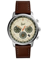ba413d3f2980 LIMITED EDITION Fossil Men s Chronograph Goodwin Brown Leather Strap Watch  44mm