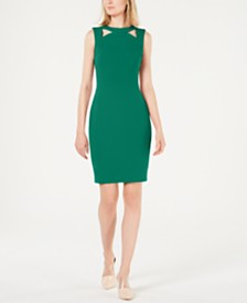 Calvin Klein Cutout-Collar Sheath Dress