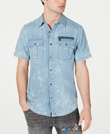 GUESS Men's Slim-Fit Denim Shirt