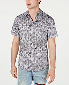 GUESS Men's Luxe Basket Weave Shirt