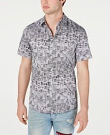 GUESS Men's Luxe Basket Weave Shirt