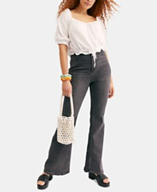 Free People Robin Curvy High Rise Flare Jeans