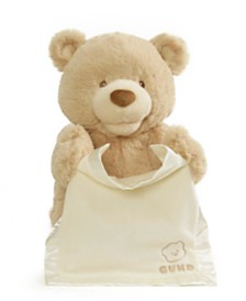 Gund® Baby Boys or Girls Animated Peek-a-Boo Bear Plush Toy