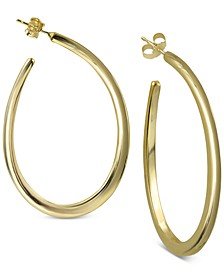 Teardrop Hoop Earrings in Sterling Silver