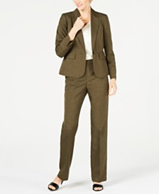 Le Suit Petite One-Button Pant Suit