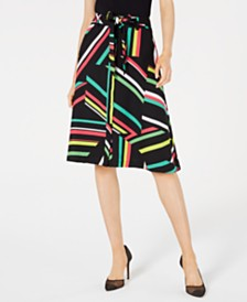 Bar III Printed Skirt, Created for Macy's