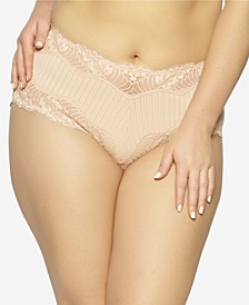 Shadow Stripe Hipster Underwear with Swing Lace Trim