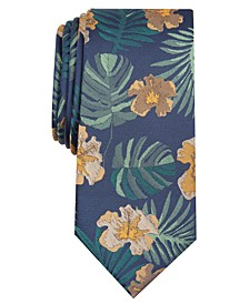 Men's Hibiscus Skinny Floral Tie, Created for Macy's