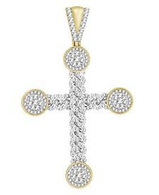 Men's Diamond (2-3/4 ct.t.w.) Cross Pendant in 10k Yellow Gold
