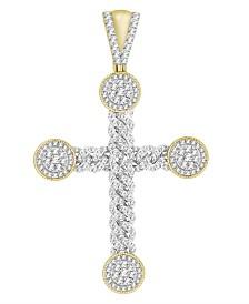 Diamond (2-3/4 ct.t.w.) Cross Pendant in 10k Yellow Gold