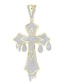 Men's Diamond (3/4 ct.t.w.) Cross Pendant in 10k Yellow Gold