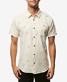 Men's Frequency Modern-Fit Tropical-Print Oxford Shirt