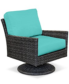 Amari Pepper Outdoor Swivel with Sunbrella® Cushions