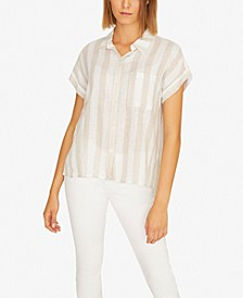 Modern Boyfriend Striped Button-Up Shirt