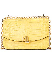 Lauren Ralph Lauren Madison Croc Crossbody