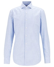 BOSS Men's Jason Slim-Fit Cotton Twill Shirt