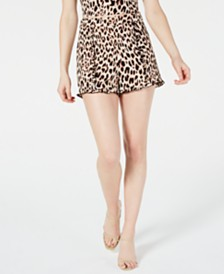 Material Girl Juniors' Printed Ruffle-Trimmed Shorts, Created for Macy's