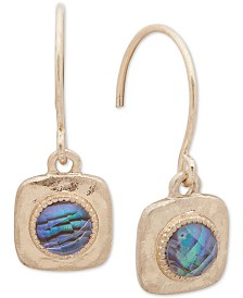 lonna & lilly Gold-Tone Abalone-Look Square Drop Earrings