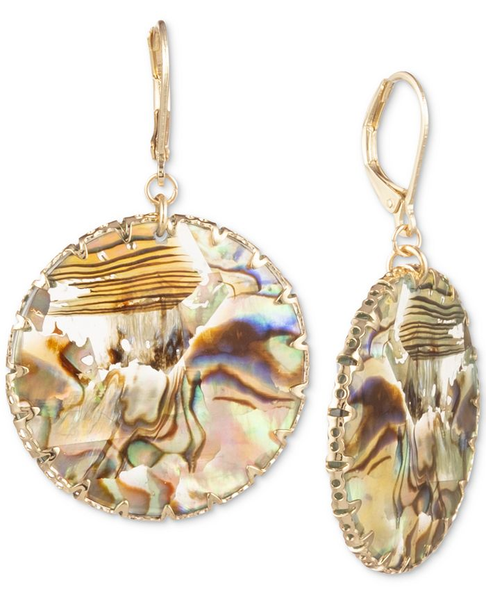 lonna & lilly - Gold-Tone Disc Drop Earrings