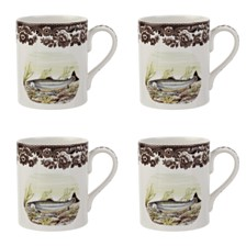 Spode Woodland King Salmon Mug Set/4