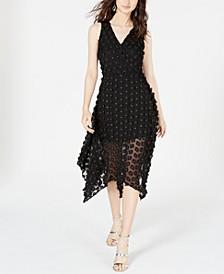 3D Floral Fit & Flare Dress