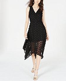 kensie 3D Floral Fit & Flare Dress