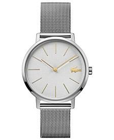 Women's Moon Ultra Slim Stainless Steel Mesh Bracelet Watch 35mm