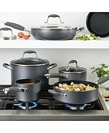 Advanced Home Hard-Anodized Nonstick 11-Pc. Cookware Set