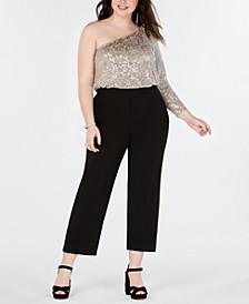 Plus Size One-Shoulder Jumpsuit