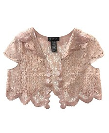 Laundry by Shelli Segal Sequin and Lace Vest