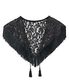 Laundry by Shelli Segal Triangle Lace Wrap