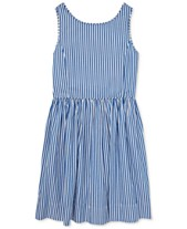 c7ea7908d Polo Ralph Lauren Big Girls Bengal-Stripe Cotton Dress