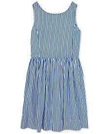 Polo Ralph Lauren Big Girls Bengal-Stripe Cotton Dress