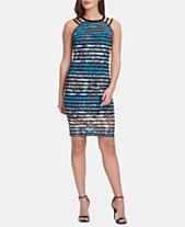 03dd5b7ddf GUESS Printed Striped Bodycon Dress