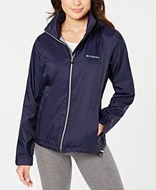 Plus Size Hooded Rain Jacket