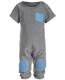 First Impressions Baby Boys Textured Patch Jumpsuit, Created for Macy's