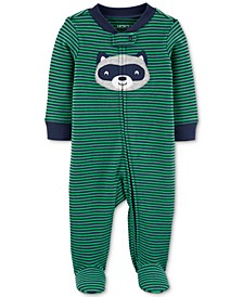 Baby Boys 1-Pc. Striped  Cotton Footed Pajamas