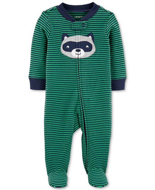 Carter's Baby Boys 1-Pc. Striped  Cotton Footed Pajamas