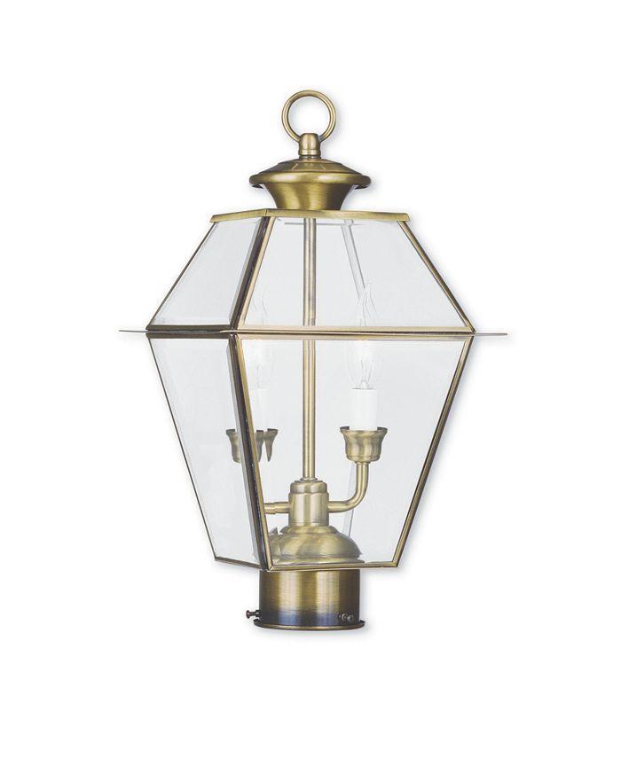 Livex - Westover 2-Light Outdoor Post Lantern