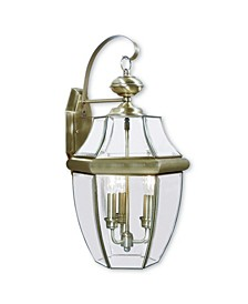 Monterey 3-Light Outdoor Classic Color Wall Lantern