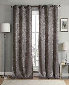 "Maddie 38"" x 96"" Metallic Blackout Curtain Set"