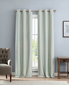 "Fay 38"" x 84"" Linen Look Blackout Curtain Set"