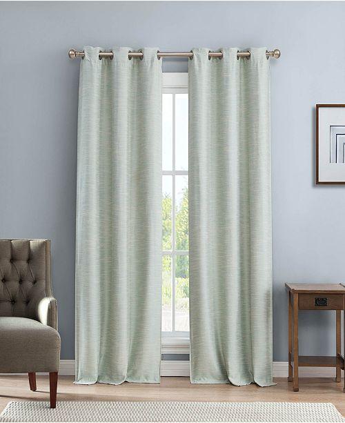 """Duck River Textile Fay 38"""" x 84"""" Linen Look Blackout Curtain Set"""