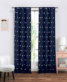 "Gruden 38"" x 84"" Star Print Blackout Curtain Set"