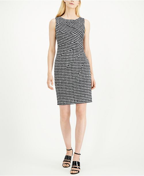 Calvin Klein Petite Houndstooth Sheath Dress