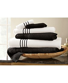 6 Pc Quick Dry Stripe Towel Set