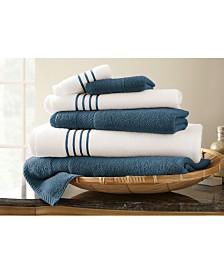 6 Pc Quick Dry Stripe Towel Set
