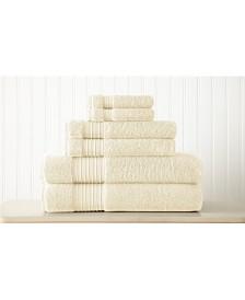 6-Piece 100% Turkish Cotton Towel Set